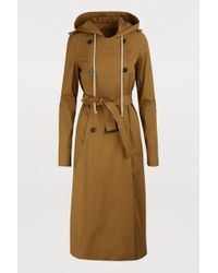 Rick Owens - Hooded Trench Coat - Lyst