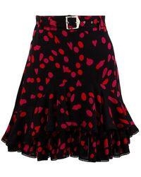 Koche Belted Skirt - Red