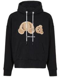 Palm Angels Sweatshirt à capuche Bear - Noir