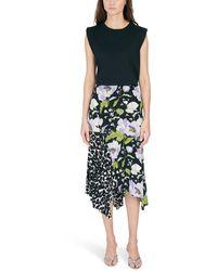 Tom Ford Midi Asymmetric Skirt - Black