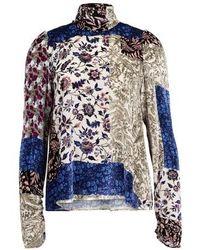 Forte Forte Romantica Print Shirt - Blue