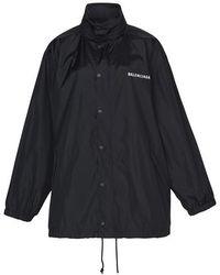 Balenciaga Veste imperméable - Noir