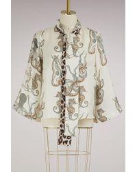 La Prestic Ouiston Blouse Naviglio en soie - Multicolore