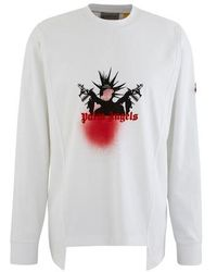 Moncler Genius 8 Moncler Palm Angels Long Sleeve Tee - White