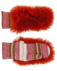 Marni Fur Mittens - Red