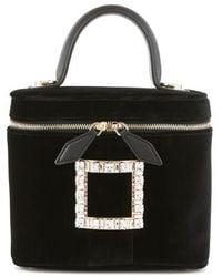 Roger Vivier Vanity Mini Bag - Black