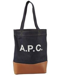 A.P.C. Axelle Tote Bag - Black