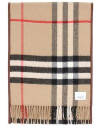 Burberry Quilted Check Scarf - Brown