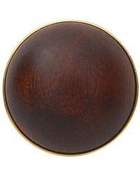 Loewe Globe Mono Earring - Brown