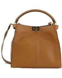Fendi Peekaboo X-lite Handbag - Brown