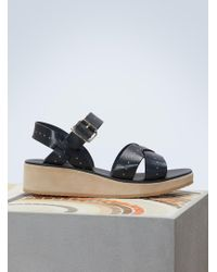 A.P.C. - Leather Odette Sandals - Lyst