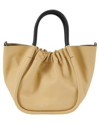 Proenza Schouler Ruched Small Tote Bag - Natural