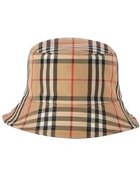 Burberry Bob en coton mélangé motif Vintage check - Neutre