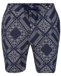 Officine Generale Bandana Printed Shorts - Blue