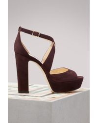Jimmy Choo Sandales April 120 - Marron