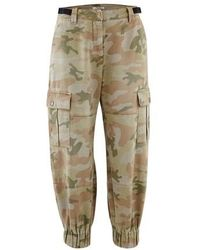 Miu Miu Pantalon Camo - Neutre