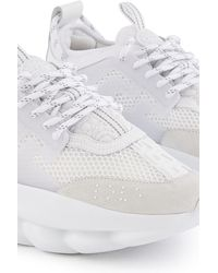 Versace Triple White Chain Reaction Trainers