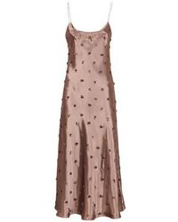 Fendi Satin Dress - Brown
