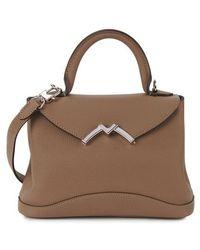 Moynat Mini Gaby Handbag - Brown