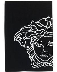 Versace Écharpe tricotée Medusa - Noir