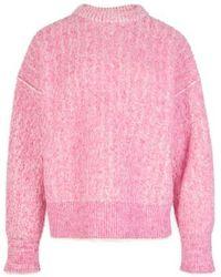 Acne Studios Brushed Melange Sweater - Pink