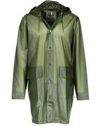 Rains Le Hooded Coat - Vert