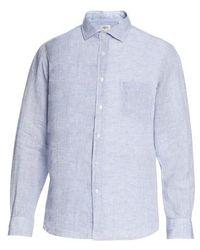 Hartford Paul Linen Shirt - Blue