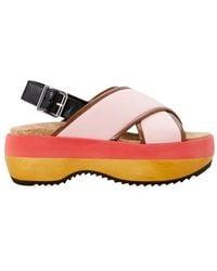 Marni Wedge Sandals - Pink