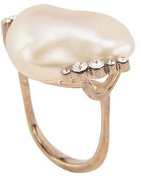 "Givenchy Midnight Pearl"" Ring"" - White"