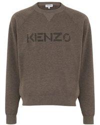 KENZO Sweatshirt à Logo - Marron