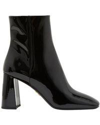 Prada Booties Patent Leather Black - Noir