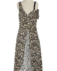 Proenza Schouler Silk Open Shoulder Dress - Black
