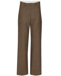 Roseanna Wool Trousers - Natural