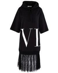 Valentino Vltn Sweatshirt-dress - Black