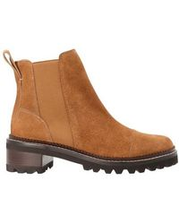 See By Chloé Mallory Flat Suede Boots - Brown