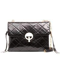 Vanessa Bruno Moon Flap Bag - Black