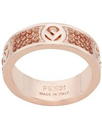 Fendi F Is Ring - Pink