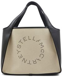 Stella McCartney Stella Logo Tote Bag - Natural
