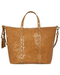 Vanessa Bruno Large Zippy Bag - Brown