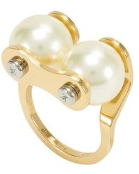 Louis Vuitton Lv Speedy Pearls Ring - Metallic