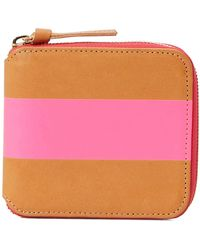Clare V. Zipped Wallet - Pink
