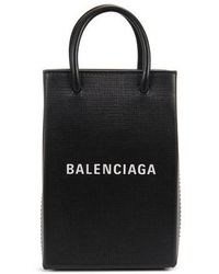 Balenciaga Shopping Phone Holder - Black