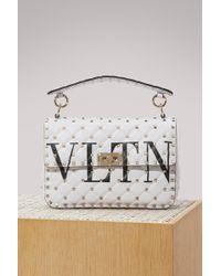 Valentino - Vltn Spike Shoulder Bag - Lyst