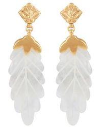 Gas Bijoux Feuille Earrings - White