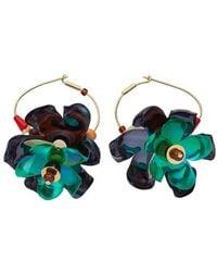 Marni Metal And Resin Drop Earring - Multicolour