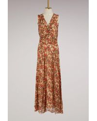 Isabel Marant Silk Flessy Dress - Red