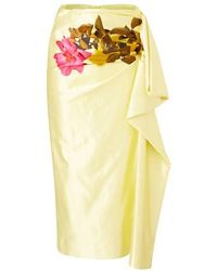 Dries Van Noten Printed skirt - Gelb