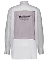 Givenchy Chemise en coton à Patch Studio - Blanc