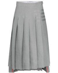 Thom Browne - Midi jupe plissée - Lyst