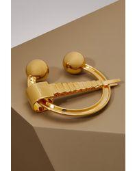 Maison Margiela Brass Brooch - Metallic